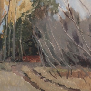 Autumn Tracks Near the Lake, 2016, oil on panel, 20 x 30cm