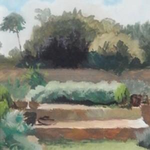 Fran's Garden, 2016, oil on panel, 15 x 20cm
