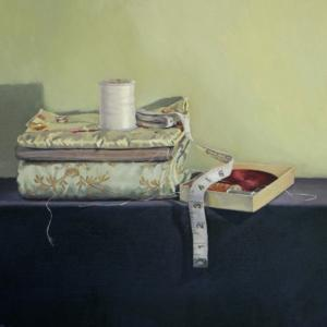 French Silks and Thread, 2013, oil on linen