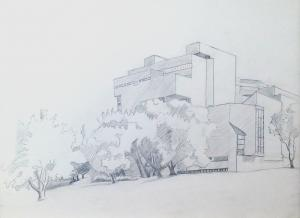 High Court, 2016, pencil on paper