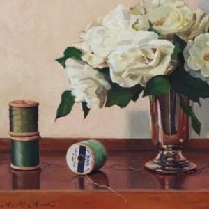 Iceberg Roses, 2014, oil on board, 33 x 21 cm