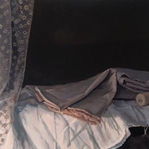 Linen Trio III, 2017, oil on linen, 51 x 41