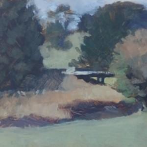 Sutton Forrest Bridge, 2016, oil on panel, 15 x 20cm